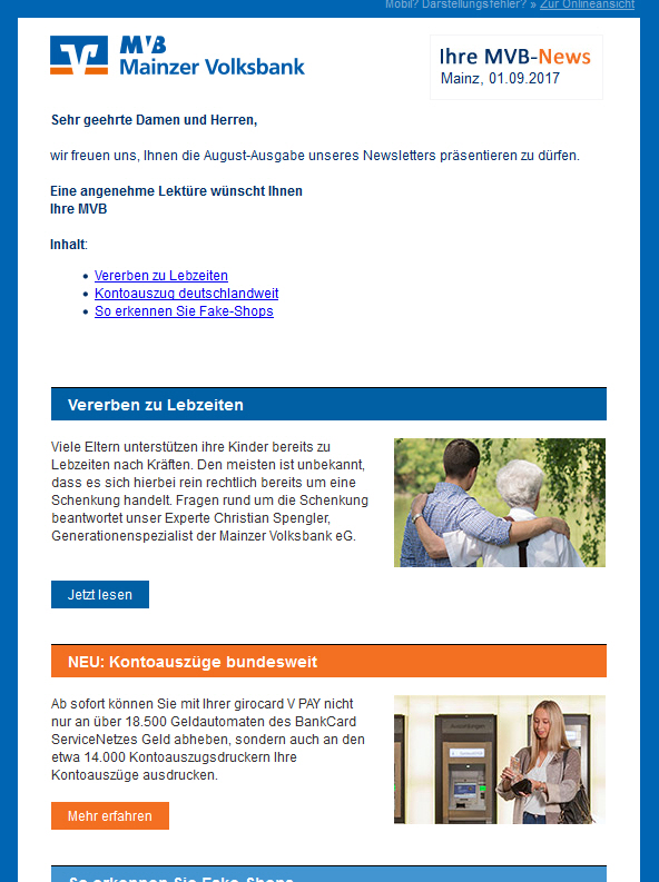09f6243c7034 Newsletter - Mainzer Volksbank eG