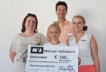 Schülerin erläuft 100 Euro Spendengelder