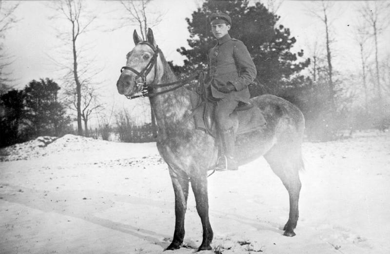 Carl Zuckmayer als Soldat an der Westfront um 1917