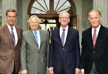 Professor Dr. med. H.-J. von Mengden, Professor Dr. med. G. Faust, Professor Dr. med. Th. Junginger und Privatdozent Dr. med. J. Zipfel (v. l.)