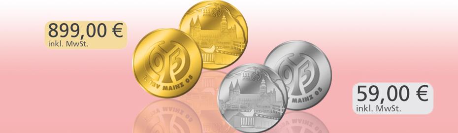 Gold- und Silbermedaillen