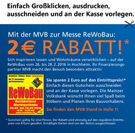 Gutschein ausdrucken, an der Kasse vorlegen und 2,- Euro sparen