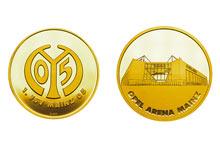 Mainz05-Sonderprägung OPEL ARENA gold
