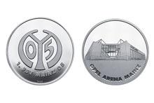 Mainz05-Sonderprägung OPEL ARENA silber