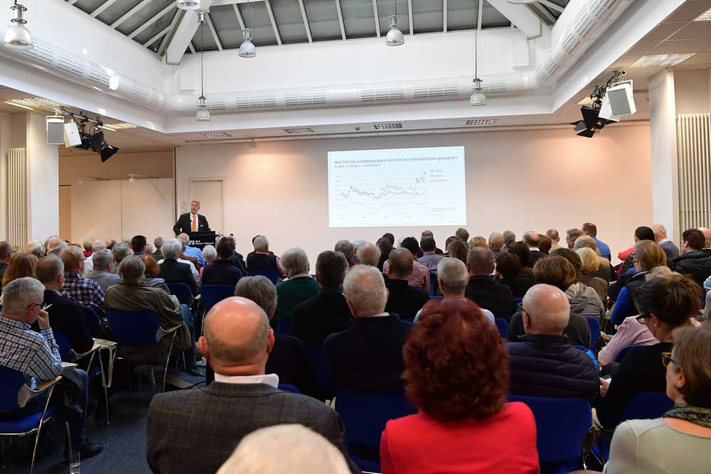 Viele Interessierte bei der MVB-Anlegermesse 2018 in Mainz