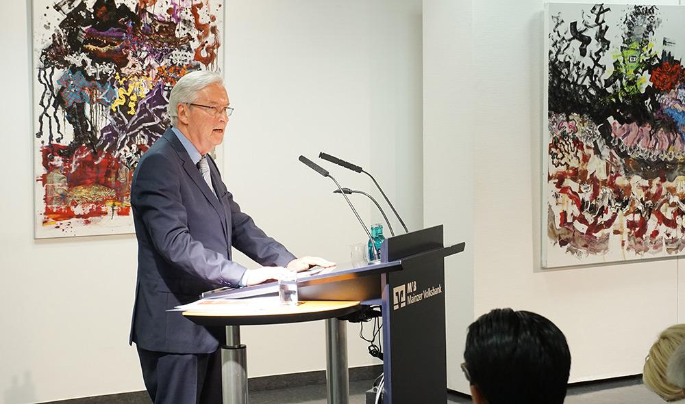 Utz Heinzelmann im MVB-Forum bei Kultur und Wirtschaft