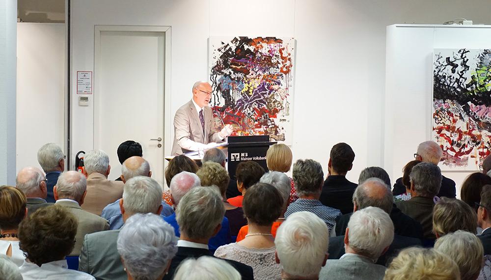 Uwe Abel bei seinem Vortrag zu Kultur und Wirtschaft