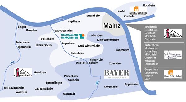 Gebietskarte Immobilienpartner der MVB - klein
